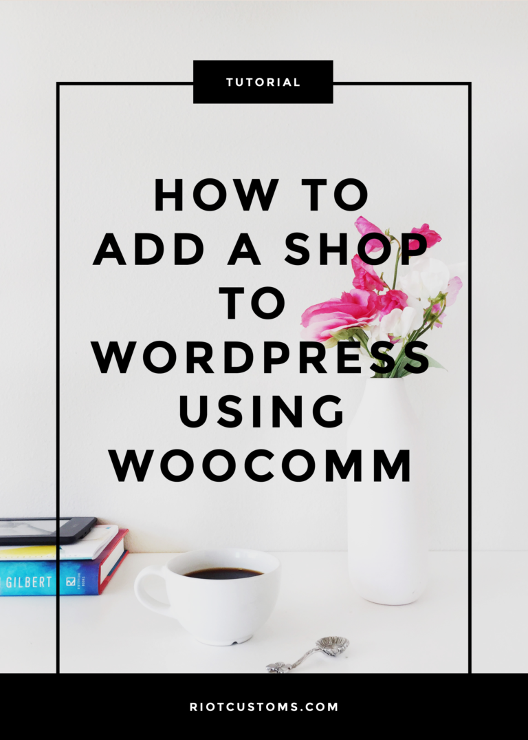 add woocommerce