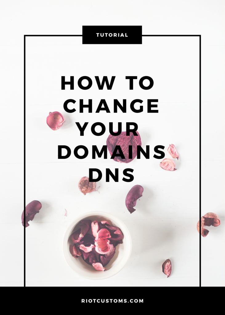 How To Change Your Domains DNS