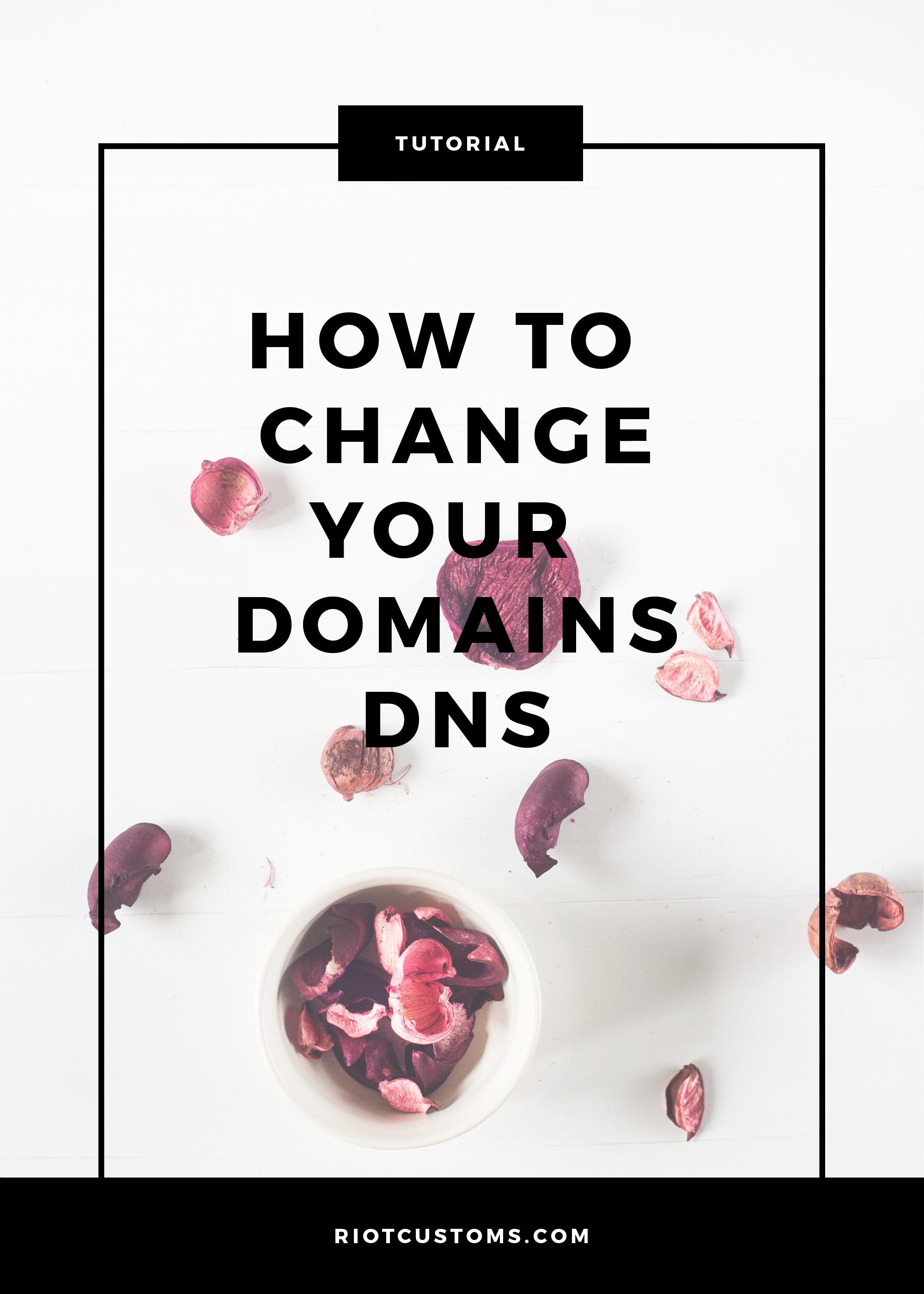 change domains dns