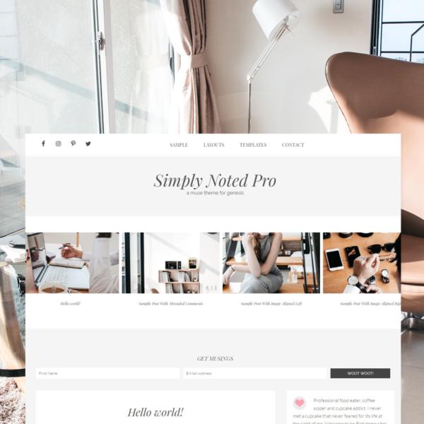 Simply Noted Pro - Premium WordPress Theme