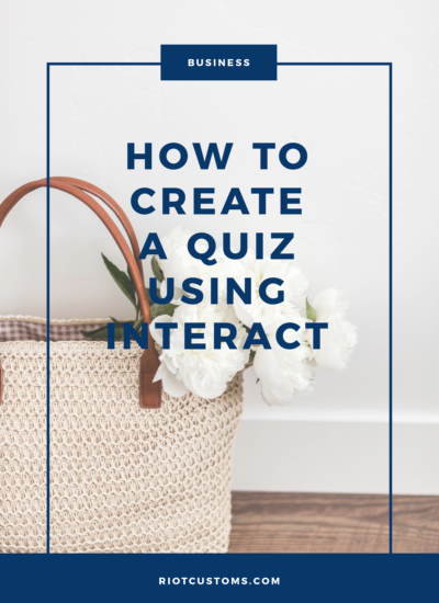 How To Create A Quiz Using Interact